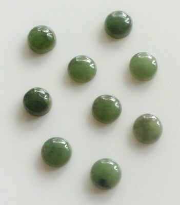 5 Pc Round Cut Shape Natural Jade 4Mm Cabochon Loose Gemstone