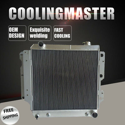 Fit 87-06 Jeep Wrangler YJChevy V8 Conversion AT/MT 3 Row Aluminum Radiator