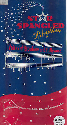 Various  STAR SPANGLED RHYTHM - VOICES OF BROADWAY & HOLLYWOOD  NEW 4 CD box set