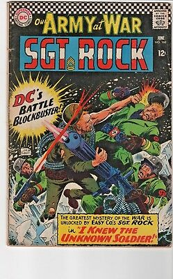 Our Army At War #168/Sgt.Rock/First Appearance of Unknown Soldier/1966 DC Comics