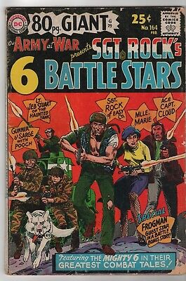 Our Army At War #164/Sgt.Rock's 6 Battle Stars/Mlle.Marie/1966 DC Comics