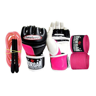 Morgan Diabla Ladies MMA Gloves Boxing Punching UFC Fight Pads Medium FREE GIFT
