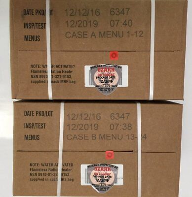 Military MRE 02/2019 Inspection A and B Case