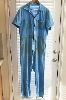 Mens DICKIES  Short Sleeve COVERALLS Size Med. 2 way Zipper