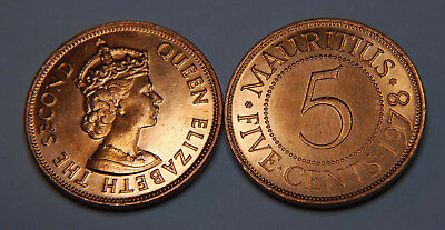 Mauritius 1978 5 Cents Uncirculated (KM34)