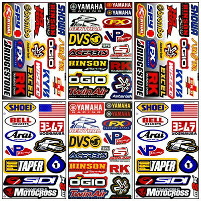 Yamaha Motocross Decal Sticker Kit Set 6 Sheets YM-602