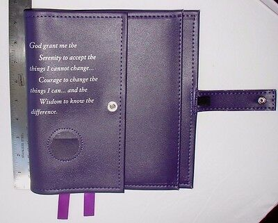 Alcoholics Anonymous AA Big Book & 12 and 12 Deluxe Serenity Purple Cover coin