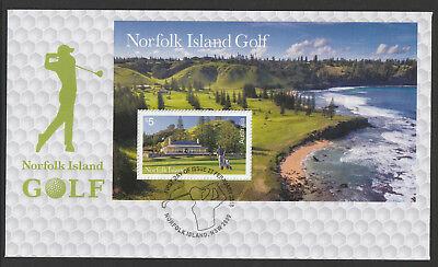 Norfolk Island 2018 : Norfolk Island Golf, First Day Cover with Mini-sheet
