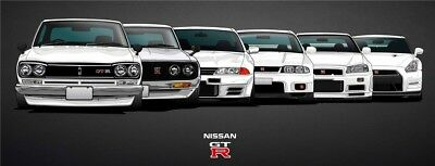 Nissan Skyline Sport Car Large Poster Wall Art Print 64''x24'' inch 11