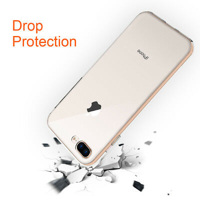 iPhone8 Plus Protection Slim Soft Silicone Ultra-thin Back Case Clear TPU Cover