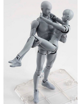 KUN+CHAN DX Ver 2 Stück Set NIB S.H.Figuarts Gray He She Body Action Figur 14.5