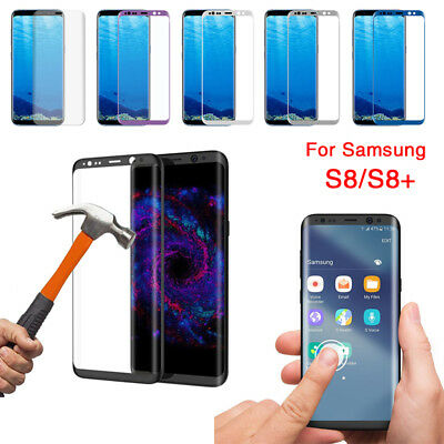 For Samsung S9 Plus Note8 J7 3D Tempered Glass/PET Film Screen Protector Lot HE1