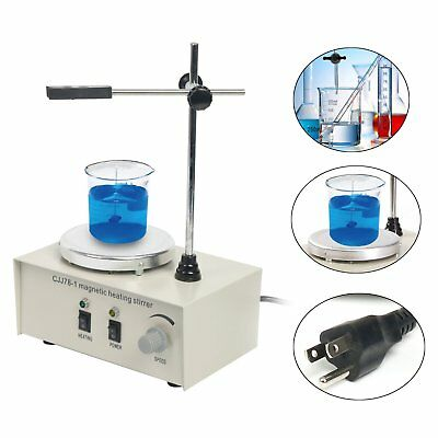 Heating Hot Plate Hotplate Magnetic Stirrer Mixer Heater Chemical Laboratory New