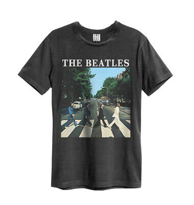 Amplified The Beatles Abbey Road T-Shirt Carbone Banda Maglia TG.S-XXL