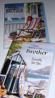 """BROTHER CARDS x12 JUST 28p, foiled, wrapped, 2 designs-embossed, 5"""" x 7""""( E1"""