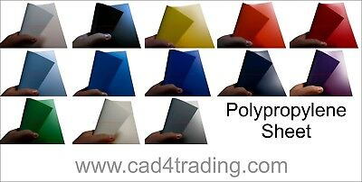 1x  A4 Coloured Polypropylene Plastic Sheet 0.8mm Model Making, Arts & Crafts