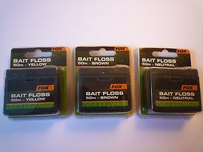 FOX Bait Floss 50m Yellow oder Neutral oder Brown   0,14€ /m
