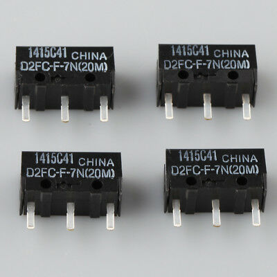 4 x OMRON D2FC-F-7N(20M) Micro Switch Microswitch for RAZER Logitech G600 Mouse