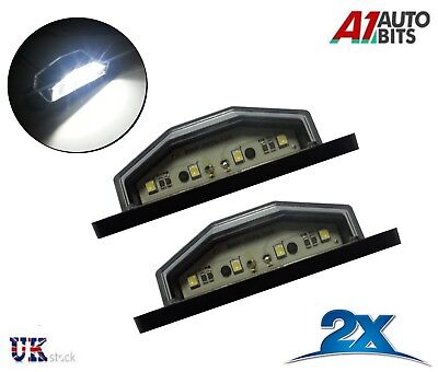 2x  4 White LED Rear Tail License Number Plate Light Lamp 12V Car Truck Trailer