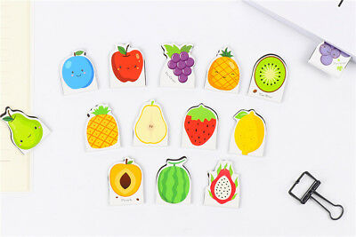 5pc Cute Fruits Strawberry Grapes Apple Pear Magnetic Bookmarks With Magnets
