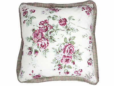 Vintage Style Rose Cream 50cm x 50 cm Oxford Style Cushion Cover with Border