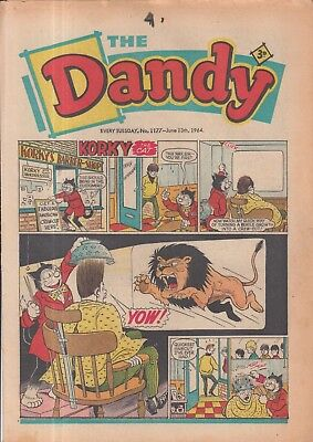 The Dandy Comic Every Tuesday No. 1177 June 13Th 1964.
