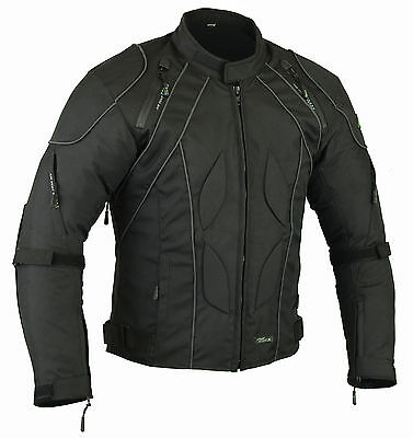Mens RIDEX CJ2 Motorbike Motorcycle Jacket Windproof/ Waterproof With CE Armours