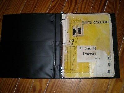 "ORIGINAL Farmall ""H"" HV"" Parts Catalog TC-27E Revision E Closed IH DEALER Copy"