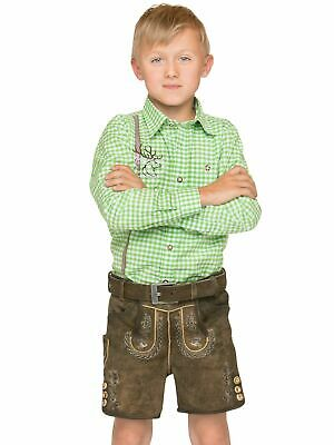 Stockerpoint Traditional Costume Children Leather Pants with Belt short Moritz