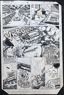 Barry Windsor Smith MACHINE MAN original comic art page