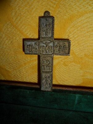 ancient bronze cross 19th century.