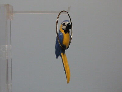 Retired Hagen Renaker Blue & Gold Macaw in Ring