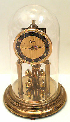 "Koma German Anniversary 400 days Gilded Case Clock GWO 12""H 7.5""D"
