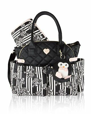 Betsey Johnson 3pc Downtown Diaper Bag Baby Shoulder Handbag