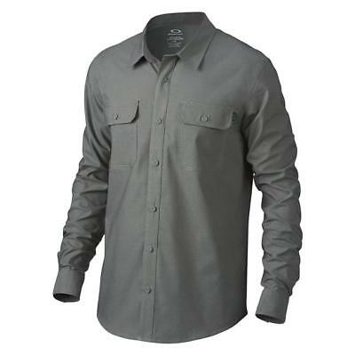 Oakley Essential Long Sleeve Shirt: Jet Black, Grigio Scuro - retail $89.00