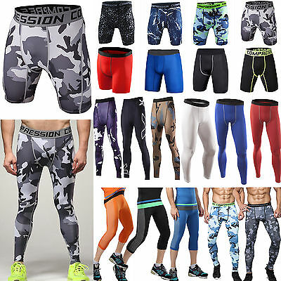 Herren Skins Tight Compression Trainingshose Hosen Sporthose Laufhose Leggings D