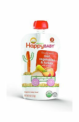 Happy Baby Organic Stage 3 Baby Food, Hearty Meals, Root Vegetables Turkey 16pk