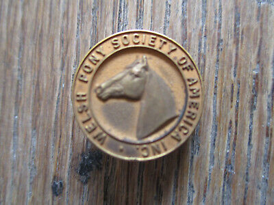 vintage 1960 Welsh Pony Society of America Membership Pin Member Badge Horse