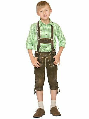 Stockerpoint Traditional Costume Children Leather Pants with Braces