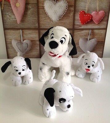 Disney Store Exclusive 101 Dalmatians Puppy Dog Lucky & 3 Puppies Soft Doll