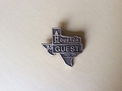1983 Vintage Houston Livestock Show & Rodeo  Guest (Youth Education) Badge