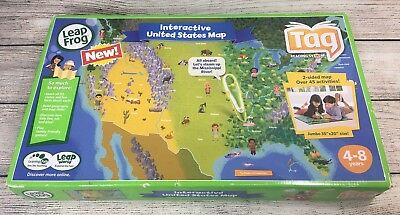 LEAPFROG TAG INTERACTIVE United States Map 2-Sided Learning Path ...