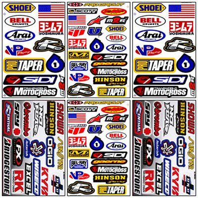 Motocross Racing Decal Sticker Kit Set 6 Sheets #MX-601
