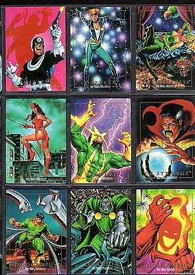 1992 Marvel Masterpiece Base Set Singles (Pick any One from the list below)