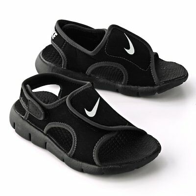 Nike Sunray Adjust 4 Black/White Youth Size 4Y-7Y  Free Shipping Retails For $35