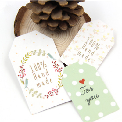 50Pcs Hang Tags With String DIY Craft Label Party Favor Note Paper Gift Supplies