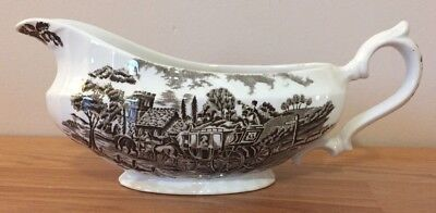 Myott Royal Mail Brown GRAVY BOAT Staffordshire ware England