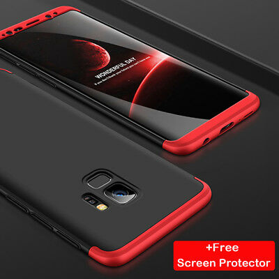 For Samsung Galaxy S9 Plus Hybrid 360° Protective Case Cover+Screen Protector