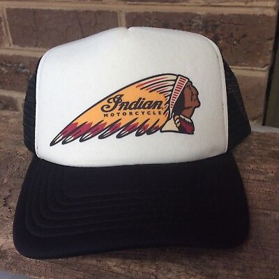 Indian Motorcycle trucker cap Black and White Colour hat