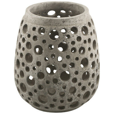 NEW Raw Natural Cement Circle Candle Holder Lifestyle Traders Candle Holders